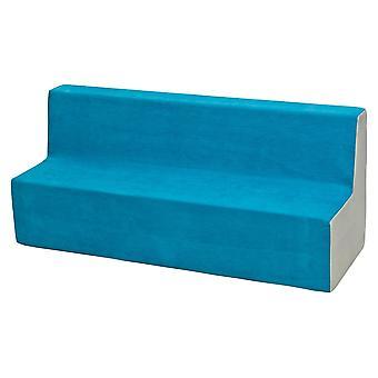 Kindersofa meubel schuim blauw & beige