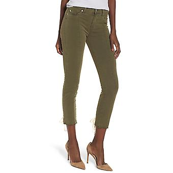 Hudson | Nico Mid-Rise Crop Lace-up Skinny Pants