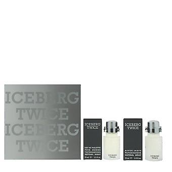 Iceberg Twice Pour Homme Eau de Toilette 75ml & After Shave 75ml Gift Set For Him