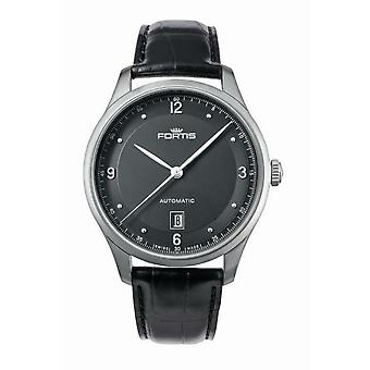 Fortis Men's 903.21.11 L.10 Tycoon Date P.M. Automatic Black Leather Date Watch