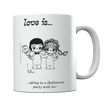 Love Is Going To A Halloween Party With Her Mug