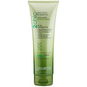 Giovanni Cosmetics 2Chic Ultra-Moist Conditioner, Avocado and Olive Oil 8.5 OZ