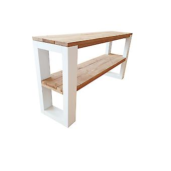 Wood4you - Side table New Orleans Roasted wood 190Lx78HX38D cm
