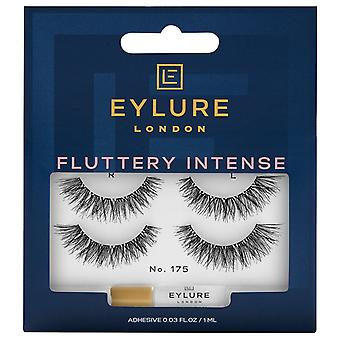 Eylure Fluttery Intense Strip Lashes - No 175 - Wispy Tapered Length - Twin Pack