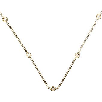 Collar de oro amarillo y diamantes 0.22 quilates -APOs;SUNSHINE-apos;