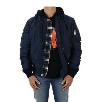OFF WHITE Pivot Revers Hoodie Bomber Blue OMEH014E20FAB0014501Outerwear