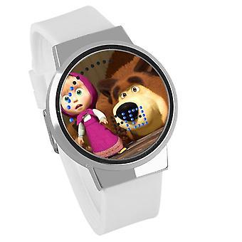 Impermeabil luminos LED Digital Touch Ceas pentru copii - Masha și ursul #1