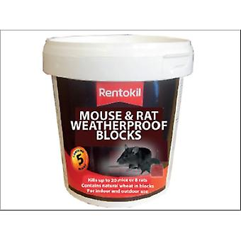 Rentokil Mouse & Rat Weatherproof Blocks x 5 PSMR41