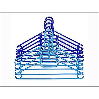 Russel Hangers Plastic Light + Dark Blue x 8 PT1608