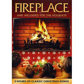 Fireplace & Melodies for the Holidays [DVD] USA import