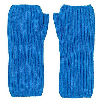 Johnstons of Elgin Ribbed Wrist Warmers - China Blue
