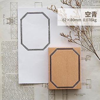 Vintage Handmade Planner Function Series Decoration Wooden Rubber Stamps