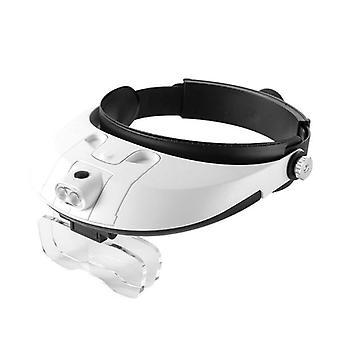 1.0-6.0x Led Headband Magnifying Loupe Detachable Headlamp Magnifying Glass