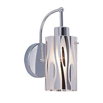 Italux Triplet - Lámpara de pared moderna Chrome 1 Luz , E27