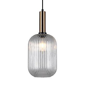Moderne hangende hanghanger Messing 1 Licht met Duidelijke Schaduw, E27