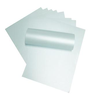 A4 Paper Pearlescent Peregrina Majestic Damask Pale Blue 120gsm