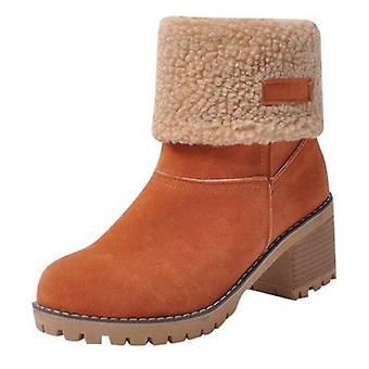 Women's Boots New Snow Boots Large Size Cotton Boots Lambs Wool Women's Shoes Boots Boots