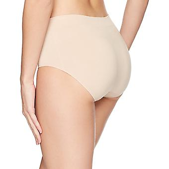 Brand - Arabella Women's Seamless Brief Panty, 3 Pack,Sunbeige,X-Large