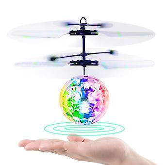 Lietajúci lopta RC infračervené indukčné vrtuľník loptu s diaľkovým ovládaním žiariace farebné LED svetlá a indukčné ovládanie ideálny darček