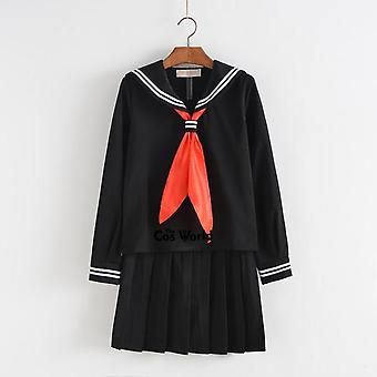 Summer School Uniform Students Cloth Tops Skirts Anime Sailor Suit