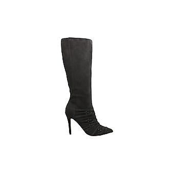 Fergie Womens Adley Suede Pointed Toe Knee High Fashion Boots