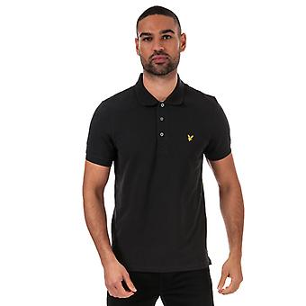 Men's Lyle And Scott Plain Polo Shirt in Black