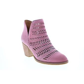 Frye & Co. Allister Feather Bootie  Womens Pink Suede Ankle & Booties Boots