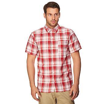 New Regatta Men's Brennen Short Sleeve Shirt Red