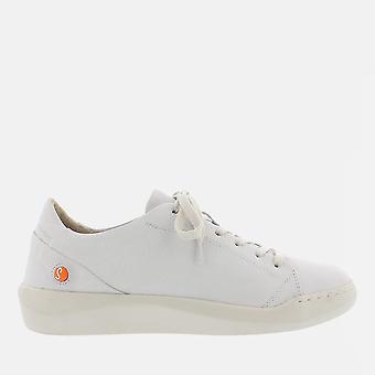 Bauk white smooth leather