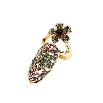 Womens Bowknot Charm Flower Nail Ring For Party