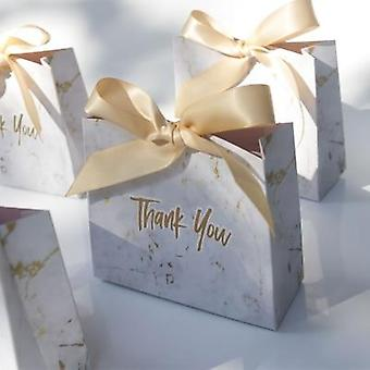 New Creative Mini Marble Bag Box For Party Baby Shower Paper Chocolate Boxes