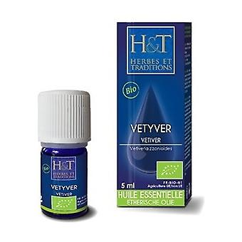 HE Vetiver root (Vetiveria zizanoides) Organic 5 ml of essential oil