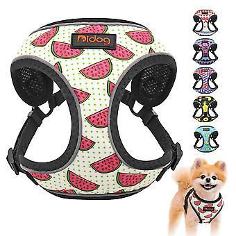 Nylon Reflective Dog & Cat Harness Vest Printed French Bulldog / Puppy Small