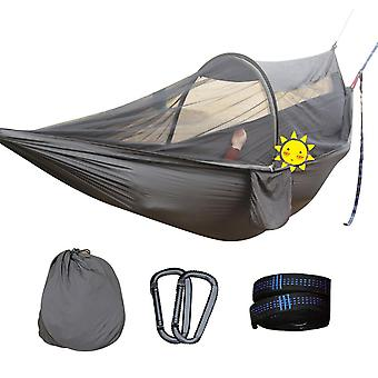 Outdoor Travel Camping Hammock Parachute Cloth Anti-mosquito Automatic Rod Support Mosquito Net Mosq