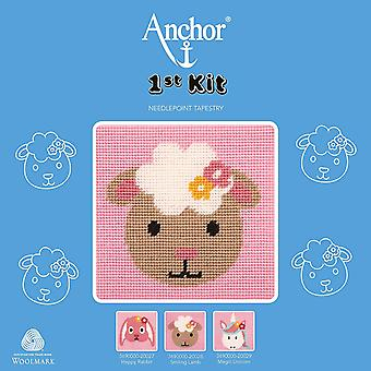 Anchor Cross Stitch Kit: 1st Kit: Best Friends: Smiling Sheep