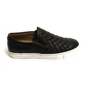 Men's Shoes Slipon Yox By Nicola Barbato In Twisted Leather Dived Col. Moro Head Us18nb01