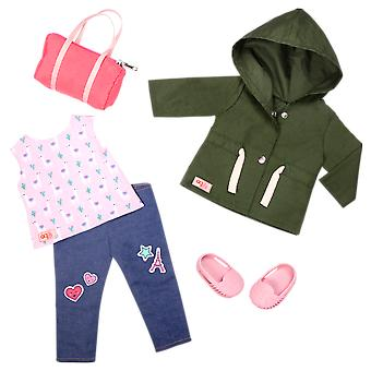 Our generation alpaca your bags deluxe outfit