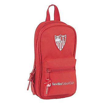 Backpack pencil case sevilla fútbol club red (33 pieces) red straps