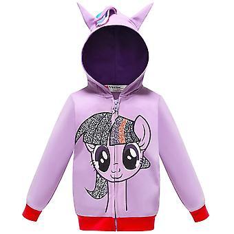 Girls My Little Poli Rainbow Dash Hoodie Pony Jacket