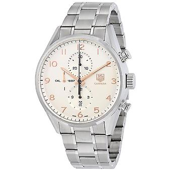 Tag Heuer Carrera Chronograph Automatic Silver Dial Men's Watch CAR2012.BA0796