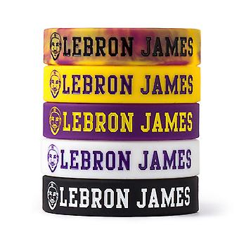 James 6 Inspirational Avatar Bracelet Basketball Sports Wristband Lakers Zhan Huang Luminous Silicone Hand Strap
