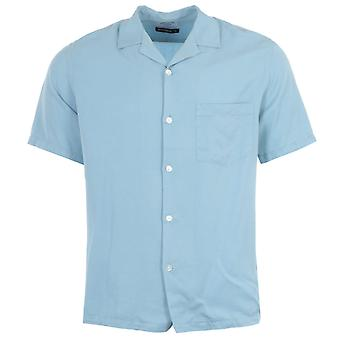 Portuguese Flannel Dogtown Short Sleeve Shirt - Light Blue
