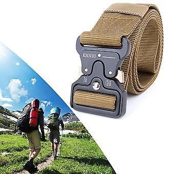 ENNIU 4,5cm široký venkovní ležérní nylonový pás nastavitelný multifunkční tréninkové pásy pro muže (hnědý)