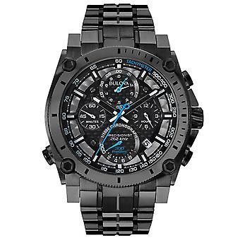 Bulova 98g229 Precisionist Kronograf Grå rustfrit stål Mænds Watch