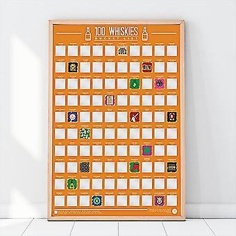 Bucket list scratch poster - 100 whiskies
