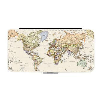 World Map Samsung Galaxy A72 Wallet Case