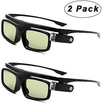 FengChun 3D-Brille, 3D Active Shutterbrille Wiederaufladbare Brillen Geeignet für 3D DLP-Link
