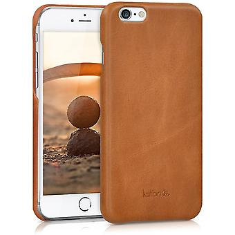 FengChun Hülle kompatibel mit Apple iPhone 6 / 6S - Leder Handy Cover Case - Hardcover Schutzhülle