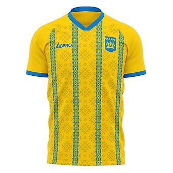 Ukraina 2020-2021 Home Concept Football Kit (Libero) - Pikkupojat