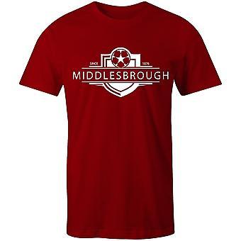 Middlesbrough 1876 etablierte Abzeichen Fußball T-shirt